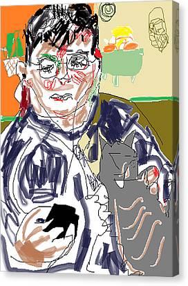 Digital Free Style Canvas Print - Blackberry by Anita Dale Livaditis