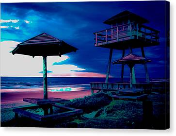 Blacklight Tower Canvas Print by DigiArt Diaries by Vicky B Fuller