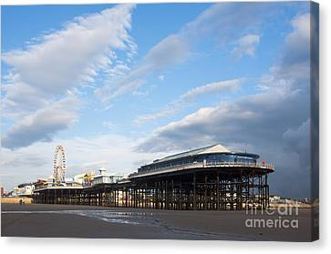 Blackpool Pier Canvas Print by Andrew  Michael
