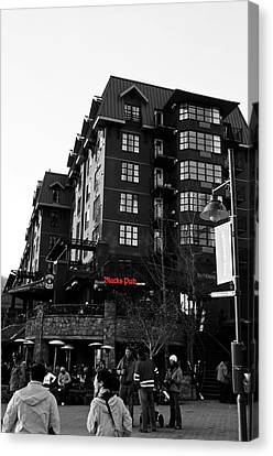 Blacks Pub Whistler Canada Canvas Print