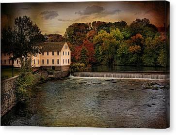 Blackstone River Mill Canvas Print by Robin-Lee Vieira