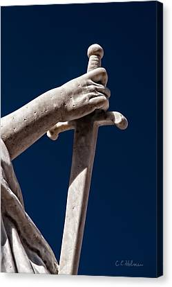 Blade In Hand Canvas Print by Christopher Holmes