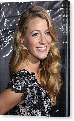 Blake Lively At Arrivals For Where The Canvas Print by Everett