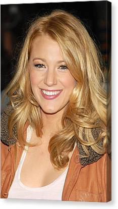 Blake Lively At Talk Show Appearance Canvas Print by Everett
