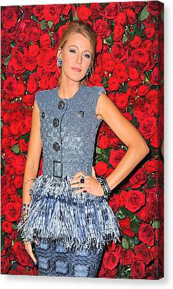 Blake Lively Wearing A Chanel Couture Canvas Print by Everett
