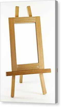 Blank Vertical Wood Frame Canvas Print