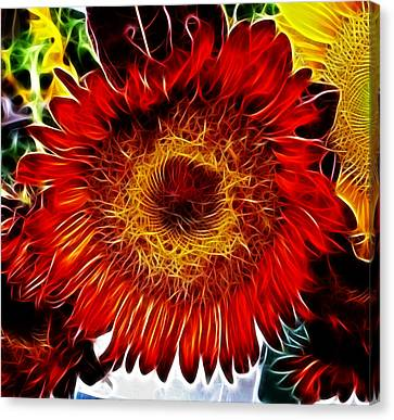 Canvas Print featuring the photograph Blazin by Joetta West