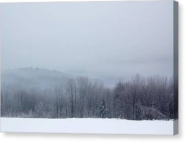 Canvas Print featuring the photograph Bleak Mid-winter by Mary McAvoy