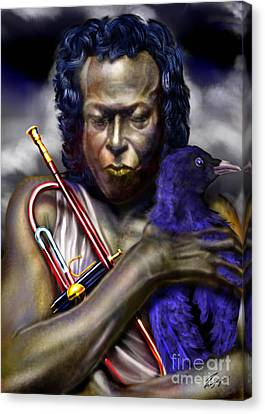 Blessings And Curses - Miles Davis Canvas Print by Reggie Duffie