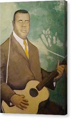 Blind Lemon  Canvas Print by Mark Haley