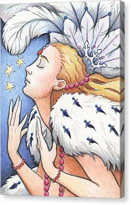 Blissful Winter Canvas Print by Amy S Turner
