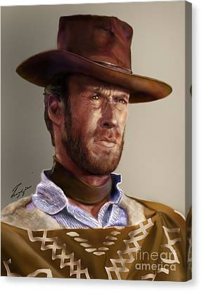 Blondie - Clint Eastwood Canvas Print by Reggie Duffie