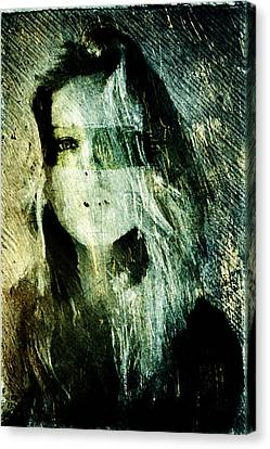 Canvas Print featuring the digital art Blondie by Andrea Barbieri