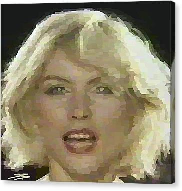 Blondie Canvas Print by Siobhan Bevans