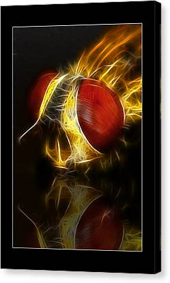 Canvas Print featuring the digital art Blood Shot 02 by Kevin Chippindall