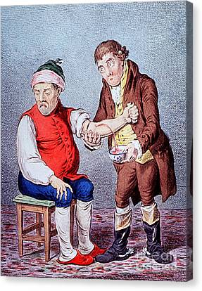 Bloodletting-1804 Canvas Print by Science Source