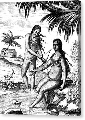 Bloodletting, Native Central American Canvas Print by Science Source