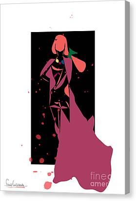Bloody Fashion 888- Artwork Canvas Print by Frank  Gulsftream