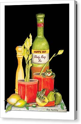 Canvas Print featuring the painting Bloody Mary by Anne Beverley-Stamps