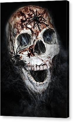 Bloody Skull Canvas Print