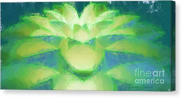 Canvas Print featuring the drawing Bloom Luminata by Susan Fisher