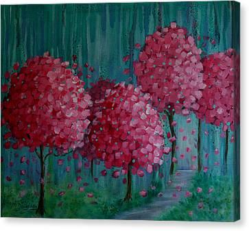 Blossoms Canvas Print by Melodie Douglas