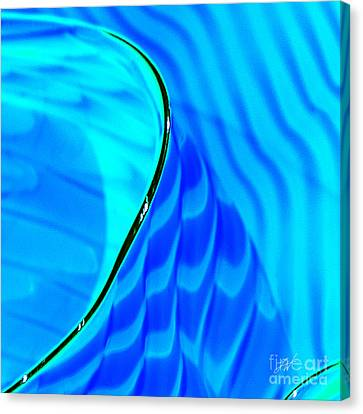 Blue And Green Canvas Print by Artist and Photographer Laura Wrede