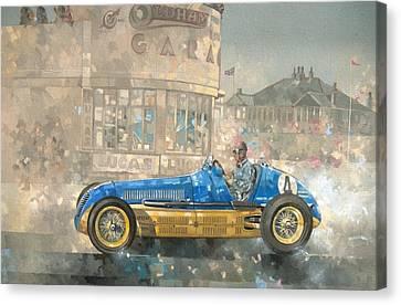Blue And Yellow Maserati Of Bira  Canvas Print