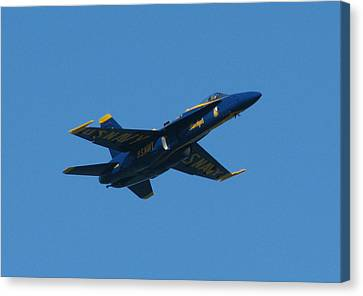 Canvas Print featuring the photograph Blue Angel Solo by Samuel Sheats