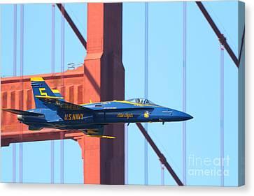 Blue Angels F-18 Super Hornet . 7d8045 Canvas Print