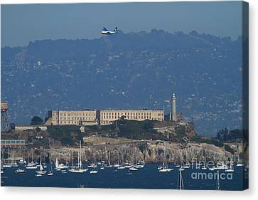 Blue Angels Fat Albert C130t Hercules Over Alcatraz . 7d7930 Canvas Print by Wingsdomain Art and Photography