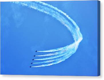 Canvas Print featuring the photograph Blue Angels by Kelly Reber
