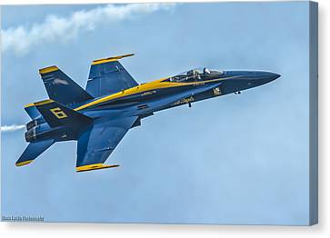 Canvas Print featuring the photograph Blue Angels by Linda Karlin