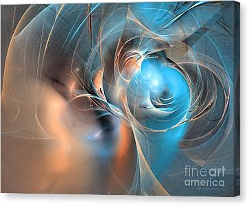 Blue Baron - Abstract Art Canvas Print by Abstract art prints by Sipo