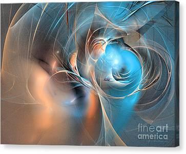 Blue Baron - Fractal Art Canvas Print
