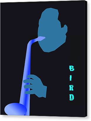 Blue Bird Canvas Print by Victor Bailey