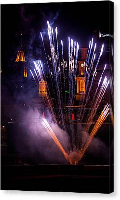 Pyrotechnic Canvas Print - Blue Bloom by Paul Mangold