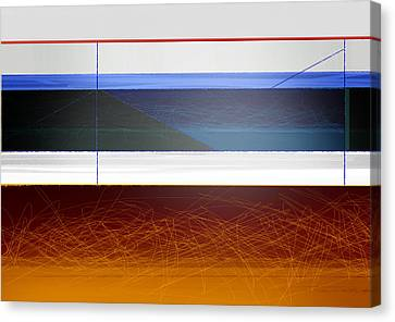 Blue Bridge To Life Canvas Print by Naxart Studio