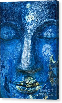 Canvas Print featuring the photograph Blue Buddha  by Luciano Mortula