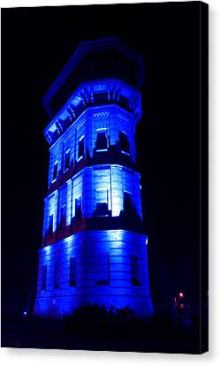 Blue Building Canvas Print by Ion Para