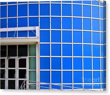 Blue Building Canvas Print by Yali Shi