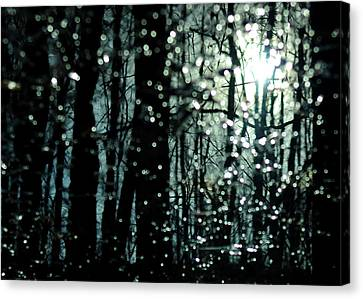 Blue Burns The Twilight Canvas Print by Rebecca Sherman