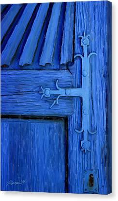 Blue Church Door Canvas Print