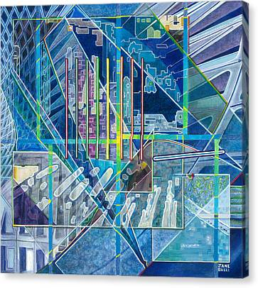 Blue City Day Canvas Print by Jane Bucci
