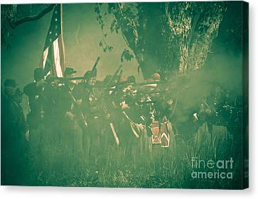 Blue Coats Fire Canvas Print by Kim Henderson