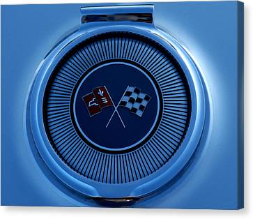 Blue Corvette Badge Canvas Print by Douglas Pittman