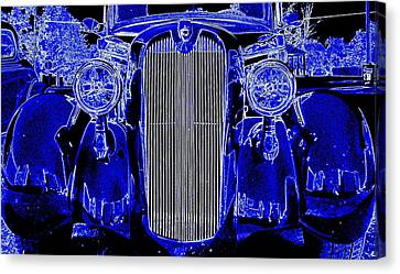 Blue Coupe Canvas Print by J R Seymour