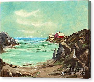 Blue Cove Serenity Canvas Print