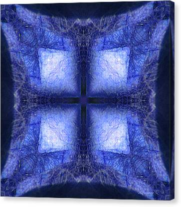 Blue Crystal Canvas Print by Joe Halinar