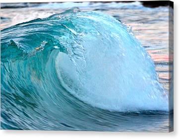 Blue Curl Canvas Print